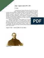 Apostila Sociologia - Auguste Comte