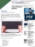 eyboard Shortcuts200 Keyboard Shortcuts (Windows)