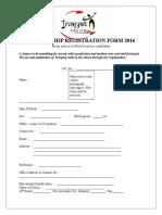 Membership Registration Form 2016 Inayat