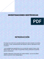 INVESTIGACIONES GEOTECNICAS
