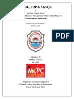 Final Php Report Manmohan