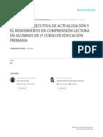La Función Ejecutiva de Actualización y El Rendimiento en Comprensión Lectora en Alumnos de 5o Curso de Educación Primaria