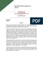 Sejarah Kawitane Wong Jawa Lan Wong