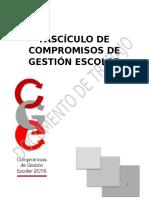 Fascículo de Compromisos de Gestión Escolar 2016