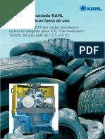 Plantas de Reciclado KAHL Para Neumáticos Fuera de Uso