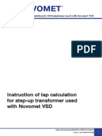 NOVOMET. Instruction of Tap and Power Rating Calculation