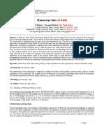 Iosrd Journal Paper Template