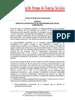 Aspectos Conceptuales de Responsabilidad Social Corporativa - Sesión 6