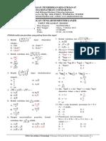 Soal UTS Ganjil Matematika Kelas X Kurikulum 2013
