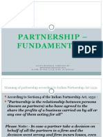 Partnership Fundamentals