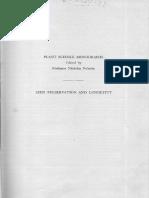 Seed Preservation and Longevity 1961 - Barton