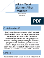 Aplikasi Teori Manajemen Aliran Modern