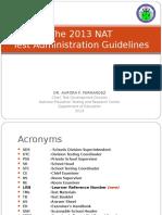 2013 NAT Test Admin Guidelines-Dr. Fernandez.ppt