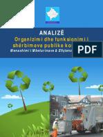 Analiza Organizimi Dhe Funksionimi i Shërbimeve Publike Komunale