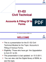 .Accounts & Various Forms Bsnl