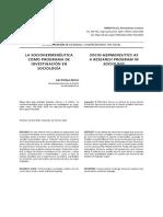 Alonso, L. La Sociohermenéutica Como Programa de Investigación en Sociológía