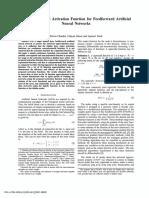 A Non-Sigmoidal Activation Function for Feedforward Artificial Neural Networks