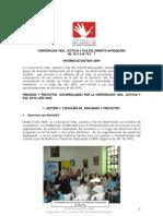 Informe de Gestión 2009 - Corporación Vida, Justicia y Paz