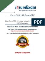 300-101 Braindumps With 100% Passing Guarantee