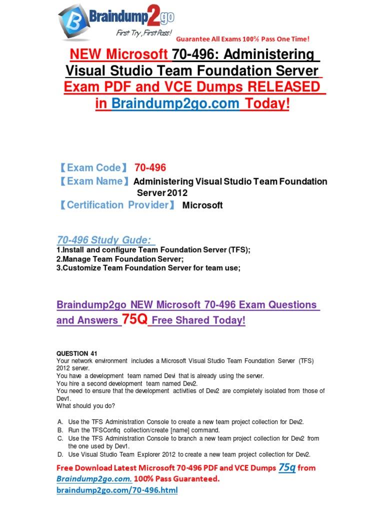 100 passbraindump2go 70 464 dumps 1 10 microsoft sql server 2016 latest microsoft 70 496 exam vce and pdf dumps 89q xflitez Choice Image