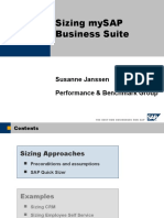 Sizing MySAP Business Suite With Examples