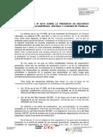 Criterio Tecnico Nº 83-10 Recurso Preventivo