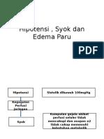 Hipotensi , Syok Dan Edema Paru