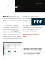 1E Software Asset Management AppClarity Datasheet