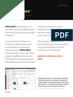 1E Software Asset Management AppClarity Datasheet