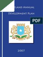 Puntland Annual Plan -2007