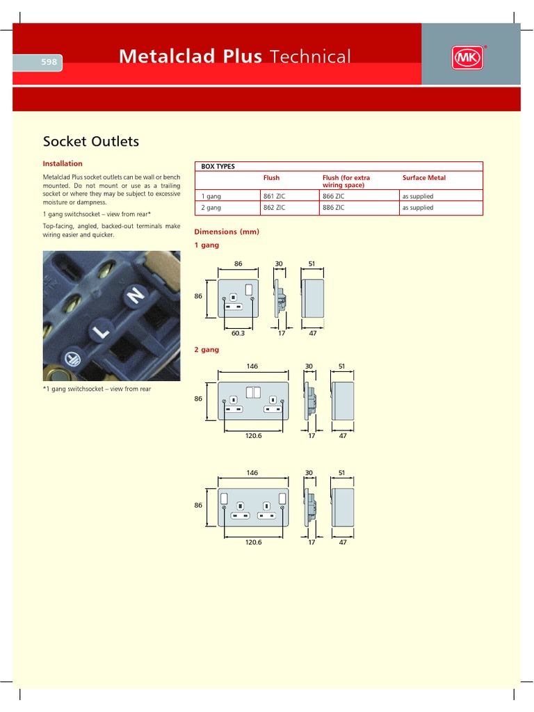 Mk Electrical Connector Ac Power Plugs And Sockets Panduit Rj11 Wiring Diagram