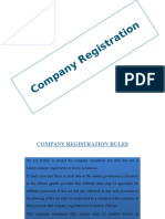 Company registration Rules