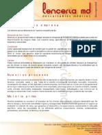 Catalogo Lenceria Md 2015