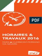 Travaux SNCF ligne Paris-Clermont