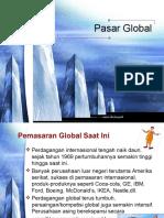 manajemen pemasaran-Pasar Global