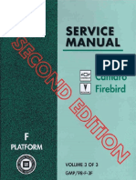 1998 Pontiac Chevrolet Camaro & Firebird Service Manual Volume 3
