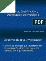 Objetivos, Justificación y Delimitación del Problema