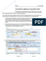 PO Printing a One Time Invoice Address