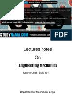 ME - Engineering Mechanics