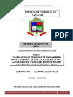 Informe de Corte de Obra - Marzo 2016