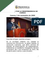 2009 11 03 Clxxxix Aniversario de La Independencia de Cuenca Web