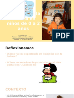 Difusión de la lectura en niños menores de 2 años