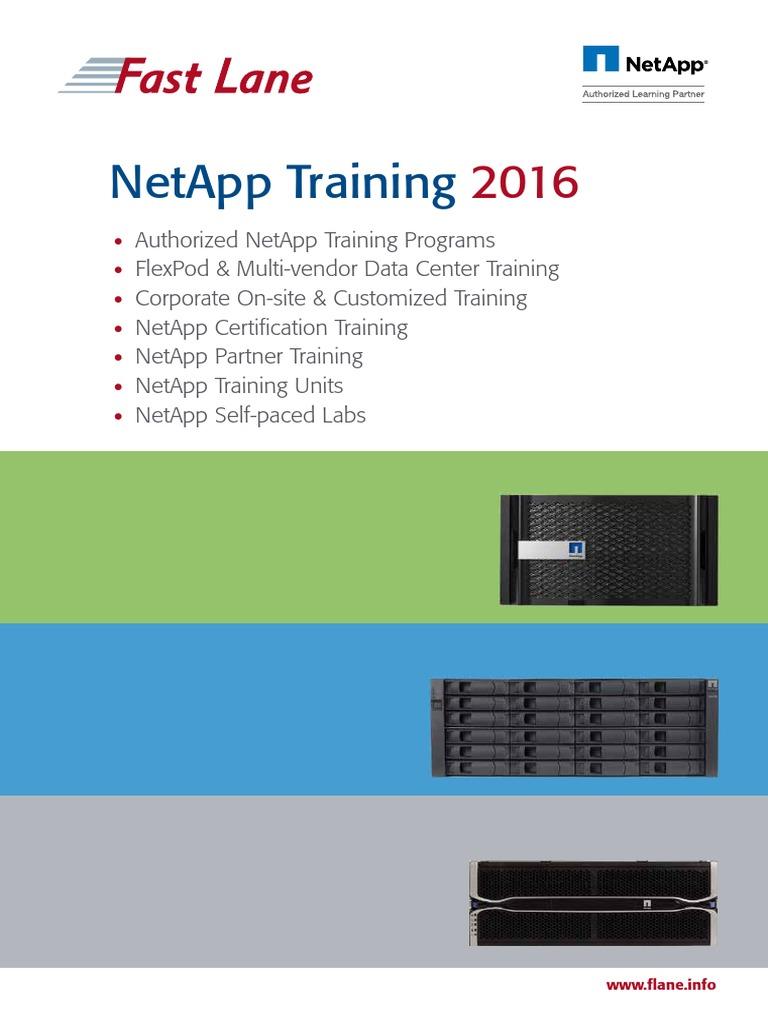 Net App 2016 Professional Certification Curriculum