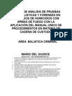 La Experticia Balística. Mario Del Giudice