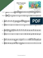 Bob Esponja Flauta Dulce