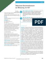 Effectiveness of Nebulized Beclomethasone