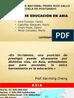 Educacion en Asia