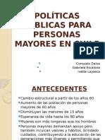 Politicas en Chile para adultos mayores