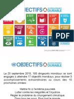 Objectifs de développement durable
