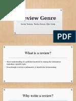 review genre presentation  2